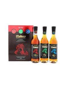 Ron Malteco Set (3x20Cl Bottles) + Gb