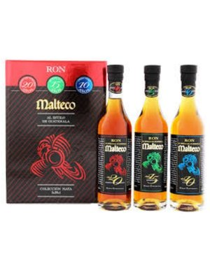 Ron Malteco Set (3x20Cl Bottles) + Gb