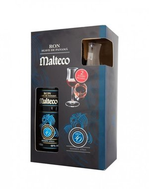 Ron Malteco 10 Years + 2 Glasses