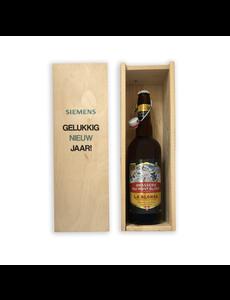 Brasserie du Mont Blanc bier in bedrukt kistje