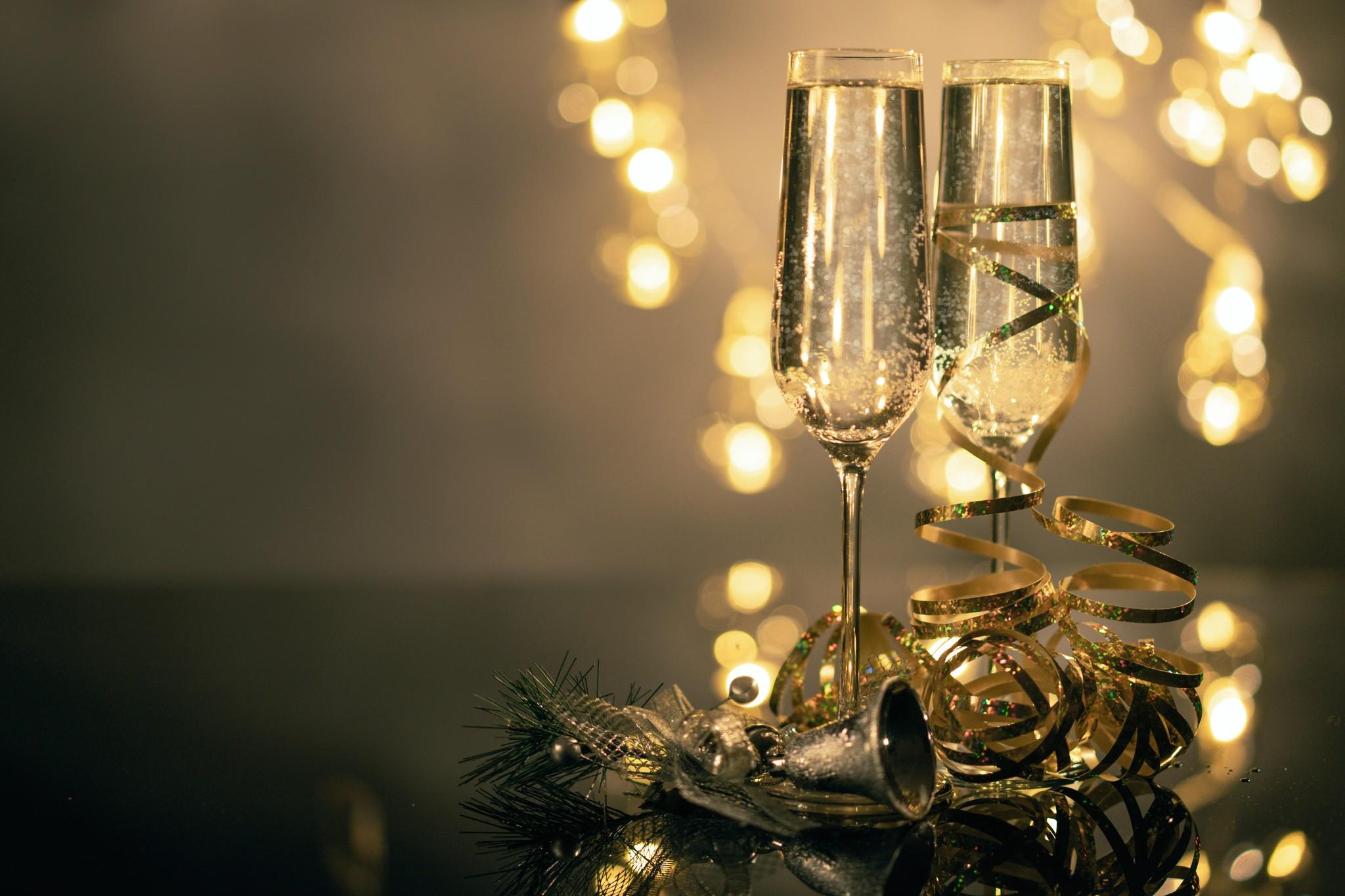 Champagne geschenk voor de kerst