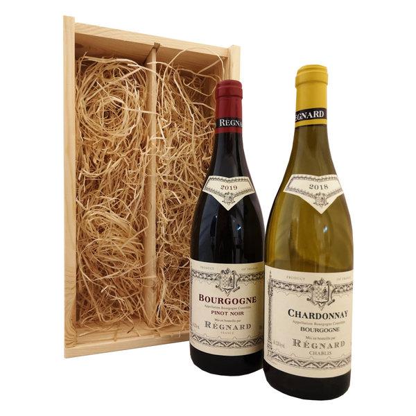Régnard Bourgogne Geschenkkist Chardonnay & Pinot Noir