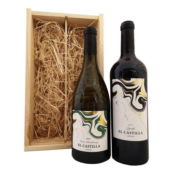 El Castilla Geschenkkist Chardonnay & Syrah