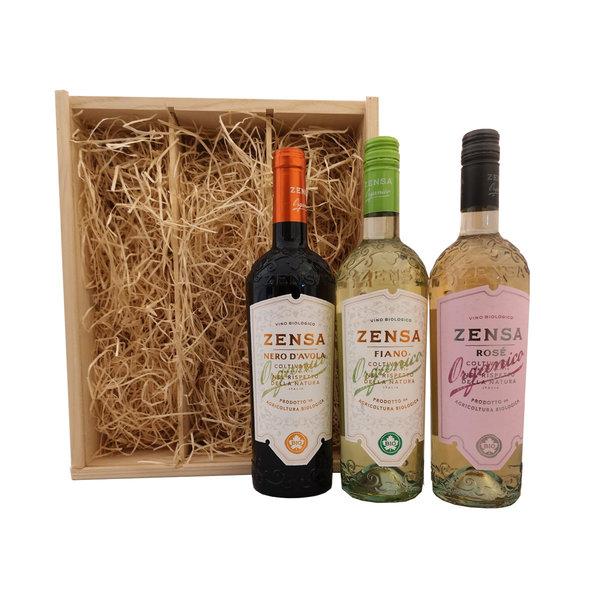 Zensa Geschenkkist Italiaans Biologisch Wijnpakket