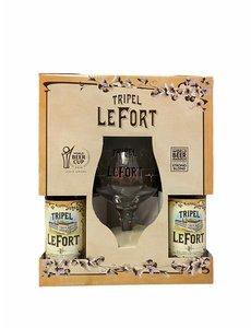 LeFort Tripel 4x 330ml met glas in giftpack