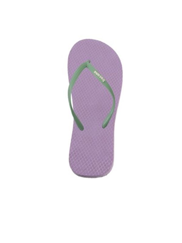 Purple with spring green flipflops