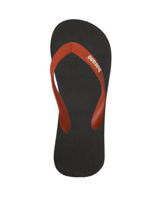 Black with orange red flipflops