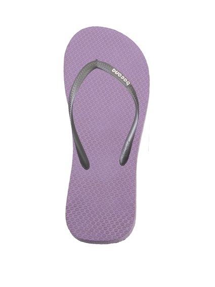Purple with spring green flipflops - Copy