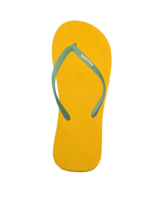 Sunglow yellow with sky blue blue flipflops - Copy - Copy - Copy