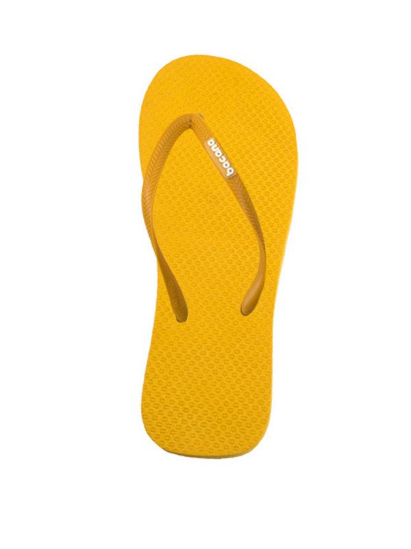 Gele flipflops