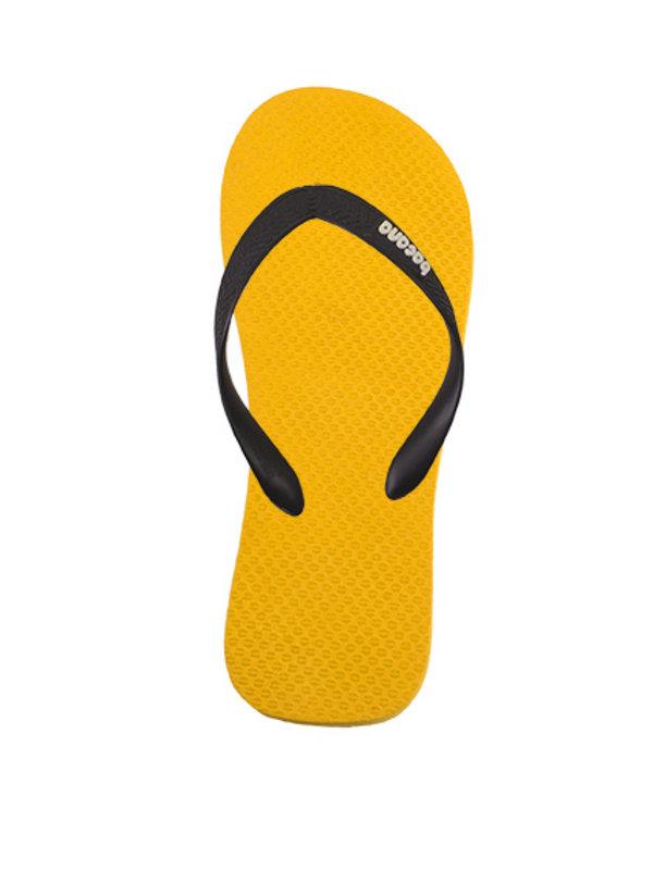 Sunglow yellow with midsummernight blue flipflops - Copy