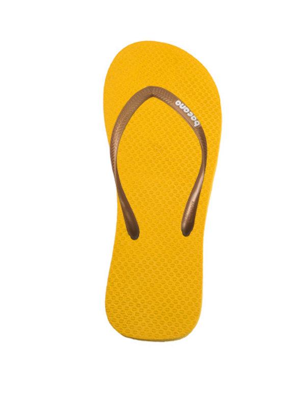 Sunglow yellow with sky blue blue flipflops - Copy