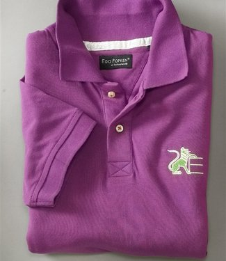 Hollyhock (Purple) Leu Piqué Polo