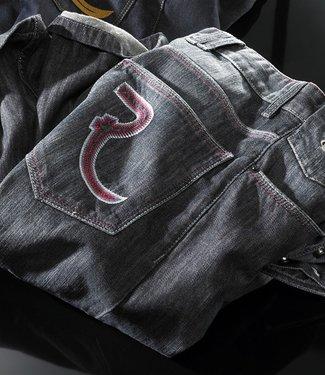 Vintage Grey-Blue Wash Double- Jeans