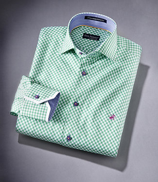 EP Fitted Dress Shirt Caro Green