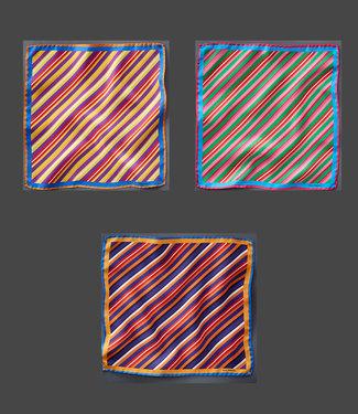 EP Silk Pocket Square  Multistripe
