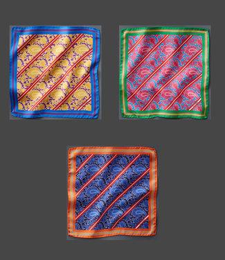 EP Silk Pocket Square LionStripe