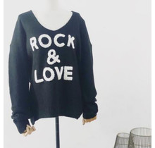 "Vest ""Rock & Love"" zwart"
