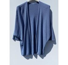 Glitter vest  blauw