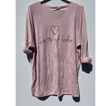 """Shirt """"la vie est belle""""  rose"""
