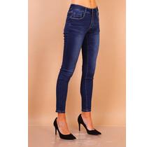 Toxik spijkerbroek donker blauw
