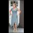 New Collection Glitter jurk lang Josje army groen