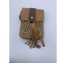 Bag Pearl cheetah camel