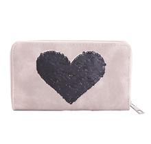 Portemonnee Sequins Heart roze