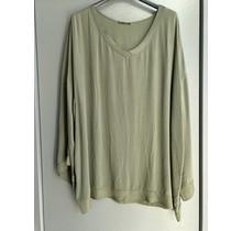 V-hals blouse Nynke army