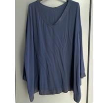V-hals blouse Nynke blauw