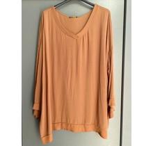 V-hals blouse Nynke roest