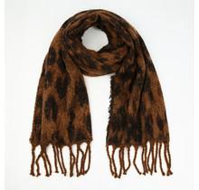 Sjaal winter Leo bruin
