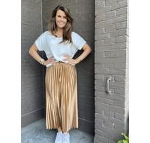 Plisse rok licht bruin