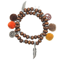Armband Beads Funky bruin