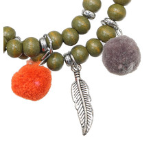 Armband Beads Funky groen