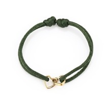 Armband double love army-goud