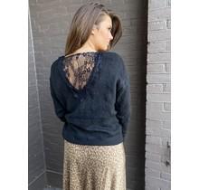 V-hals trui zwart