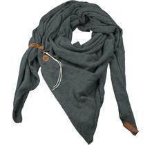 Sjaal Fien dark groen