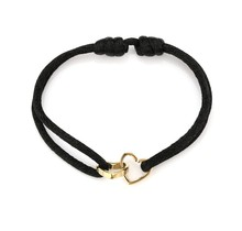 Armband double love zwart-goud