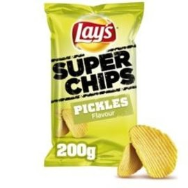 Lays LAYS SUPERCHIPS PICKLES 200G.