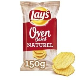 Lays Lays Oven Baked Naturel 150gr