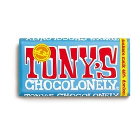 Tony's Chocolonely DONKERE 42%MELKCHOCOLADE 180gr