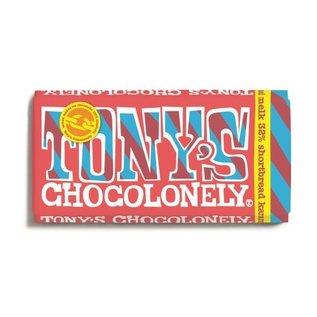 Tony's Chocolonely Tony's Chocolony  MELK 32% SHORTBREAD karamel 180gr