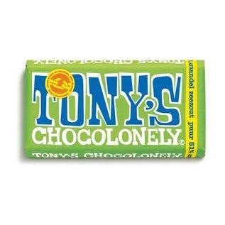 Tony's Chocolonely Tony's Chocolony PUUR AMANDEL ZEEZOUT   180gr