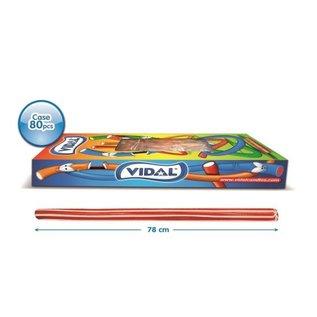 Vidal snoepkabels MAXI TWIST RED/WHITE 75gr