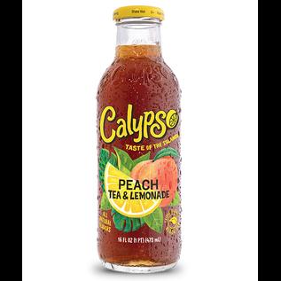 """Calypso """" taste of the islands """" Calypso PEACH TEA AND LEMONADE 473ml"""