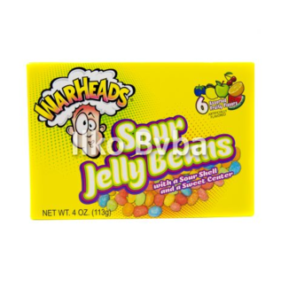 Warheads Warheads Sour Jelly Beans 113 gr