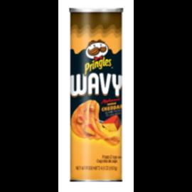 Pringles Pringles Wavy Applewood Smoked Cheddar