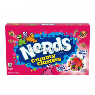 Willy Wonka Candy Nerds box Gummy Clusters 85 gr