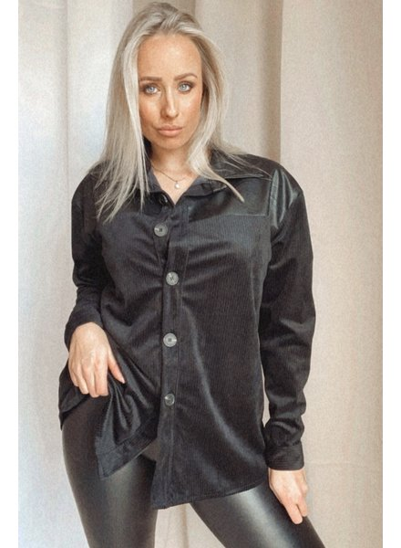 Blouse With Leather